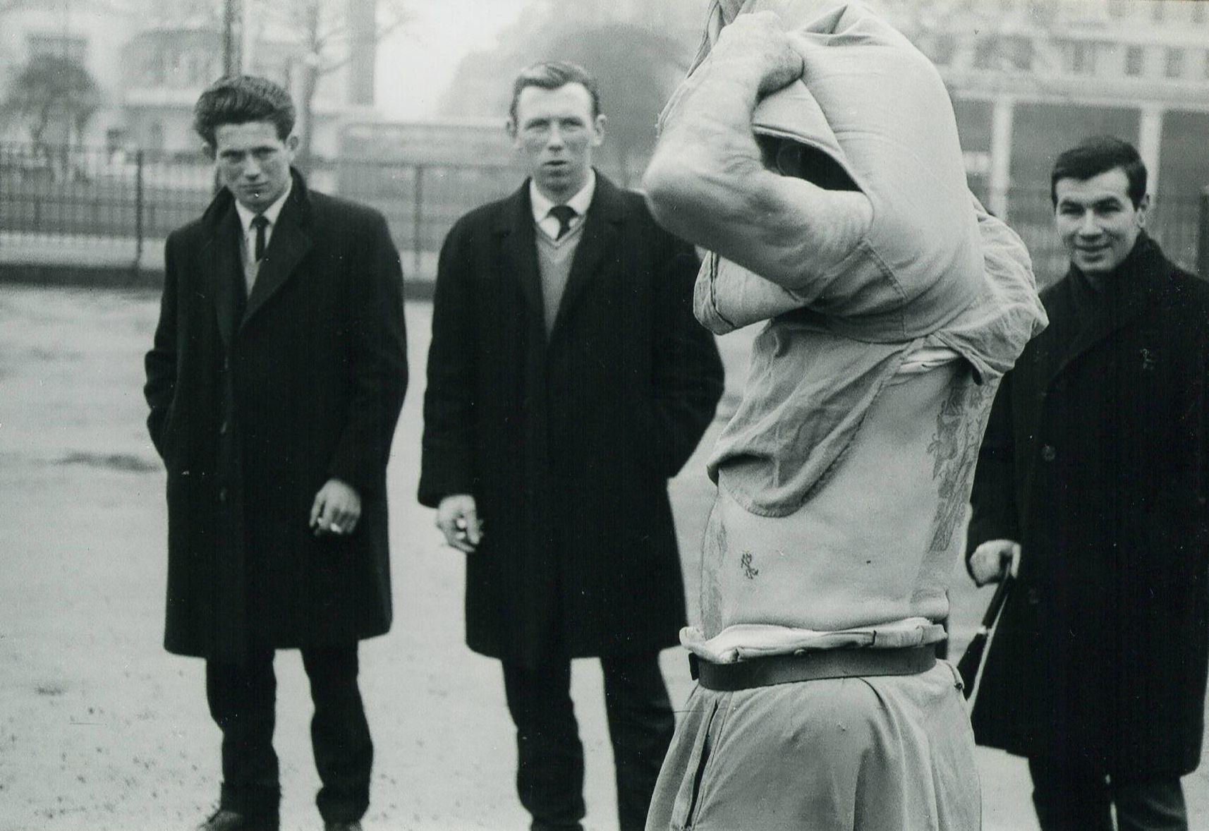 Van Dyn with unusually small crowd Speakers Corner c1966