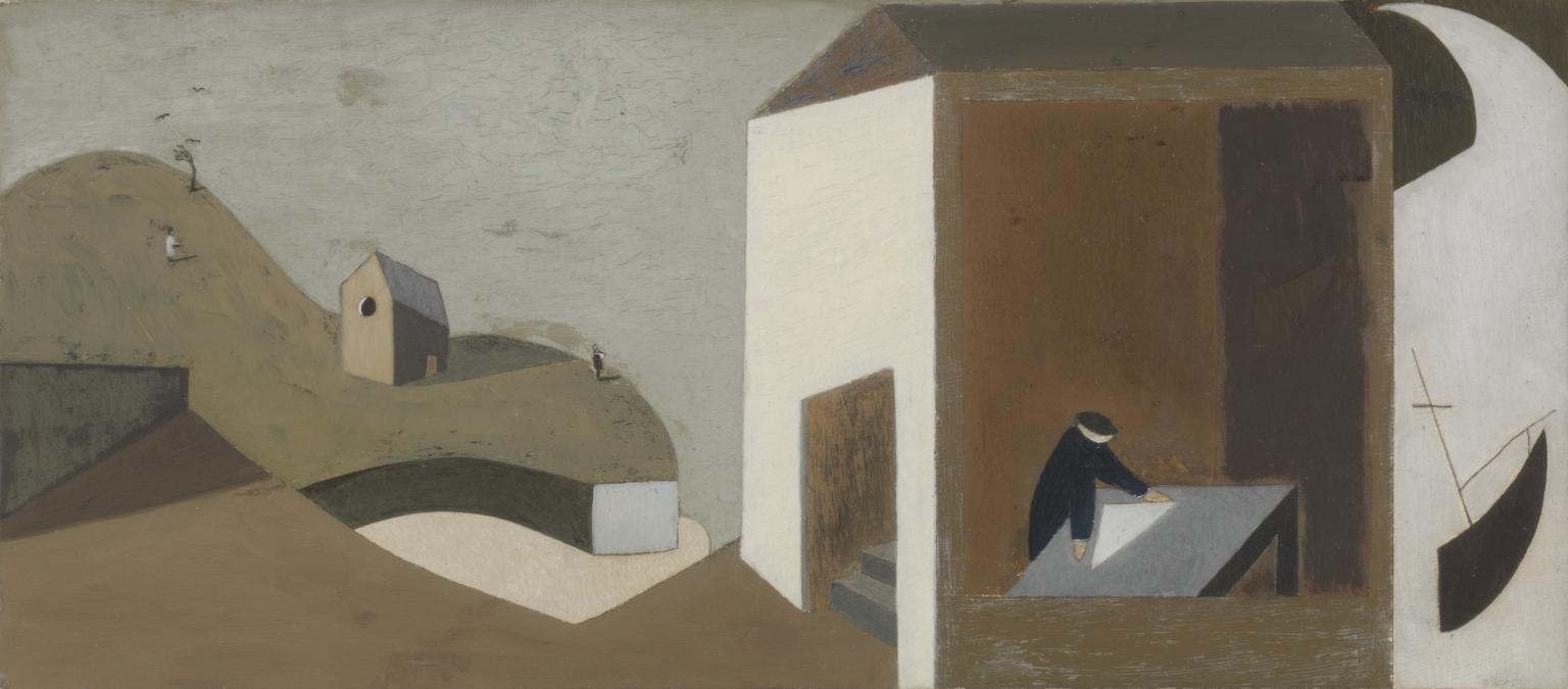 The discovery of Alfred Wallis by Ben Nicholson and Christopher Wood on a visit to St Ives in 1928 ~ 50 years after ~ 1978-9 by Andrew Lanyon